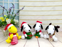Wholesale Snoopy Stuff Toy - Xmas gift New Cartoon Peanuts plush toys Snoopy Stuffed Animals doll 20cm Children best Christmas gift hotsale