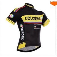 Wholesale Colombia Jersey Cheap - 2015 cheap Colombia cycling jerseys bike wear pro cycling jersey with 100% polyester and bike shorts gel pads