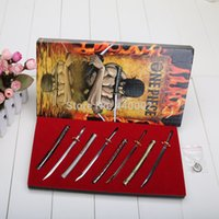 Wholesale One Piece Anime Keychain - Anime 8pcs Set One Piece Zoro Knife Buckle With Scabbard Sword Weapon Keychain Keyring For Christmas