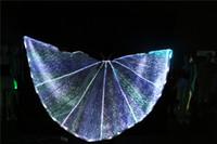 ballsaal tanz party kleider großhandel-LED Schmetterling Eröffnung Flügel Bauchtanz Flügel führte Isis Flügel Mädchen Party Kleid Ballroom Dance Kleider führte Tanz Kostüme Mode Mantel