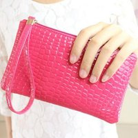 Wholesale Drop Purse Organizer - New Fashion Alligator Pattern Lady PU Leather Purse Handbag Bag Clutch Women's Wallet Daily Storage Change for ladies 8 Colors drop shipping