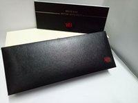 stifte holz großhandel-Hochwertige schwarze Federmäppchen für einen Füllfederhalter / Roller / Kugelschreiber für Geschenk Kugelschreiber mit Holzmaterial + Bedienungsanleitung