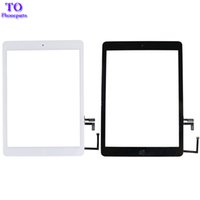 Wholesale Button Gen - For Touch Screen Digitizer Glass with Home Button Replacement iPad Air iPad 5 Gen White Black Free Shipping