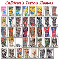 Date Multi style Pas Cher Enfants Tatouages ​​Manches Enfants Tatouage Bras Manches de Simulation Manches Manches Body Art sleevelet 2178
