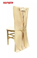 Wholesale gold chair sashes satin - 2018 For Satin Bow Chair Sashes Chair Covers Sample Link CS18