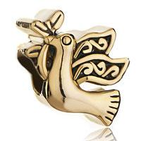Wholesale olive charm bracelet for sale - Group buy Yellow Toned w Black Antique Olive Branch Faith Hope Spacer Bead European Charm Fit Pandora Bracelet