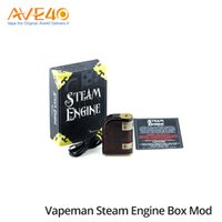 Wholesale Cell Chips - Vapeman Steam Engine Box Mod 75w TC Mod DNA 75 Chip Powered By Dual 18650 Cells 100% Original