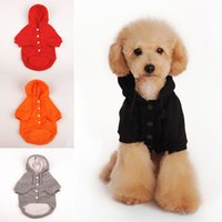 Wholesale Dog Clothes Coat Hoodies - Hot Sales Pet Dog Hoodie Puppy Clothes Sweater Costumes Jacket Coat Cotton Blend Winter Warmer DX259 Free Shipping