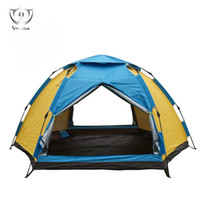 Wholesale Backpacking Tents Sale - Wholesale- Outdoors 3-4 Person Super Big Tent for Sale 3 Second Automatic Easy Set-up Easy Fold Rain Proof Camping Hiking Tent ZH8-255