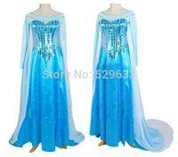 Wholesale Princess Dresses For Adults - sexy elsa costume adult snow queen frozen costume princess elsa cosplay halloween costumes for women fantasy women fancy dress custom