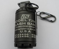 Wholesale Dummy CTS FLASH BANG GRENADE shape Windproof lighter Keychain CTS7290