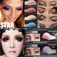Wholesale Eye Shadow Sticker Instant - 65 colors Maxdona eyeshadow stickers waterproof instant eye shadow tattoos sticker Flash Go easy to wear 6pair package