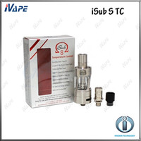 Wholesale tank tc for sale - Group buy Innokin iSub S TC Tank Original Innoki iSub S Atomizers ml With Removable Delrin Drip Tip No Spill Coil Swap System