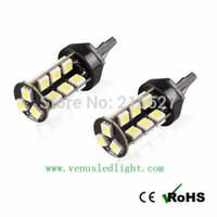 Wholesale Pure White 1156 - 7443 992 7440 T20 27 30 SMD 5050 Pure RED Stop Tail Brake 27 LED Car Light Bulb L