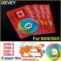 Wholesale New Gevey - New Gevey Unlock Sim Card Perfect unlock 4G 3G ios9 ios 9.1 ios8.x ios7.X for iphone 6S plus 6 6plus 5s 4s AT&T T-mobile Sprint AU SB DOCOME