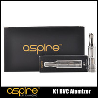 Wholesale Ego K1 - 100% Original Aspire K1 BVC Atomizer 1.5ml Glassomizer with Bottom Vertical Coil for EGO thread battery