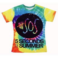 Wholesale Woman Seconds Clothes - New 2015 woman 5sos t-shirt Short Sleeve tshirt Five 5 Seconds Of Summer letter print T Shirt Top Tees Women Clothing For Summer