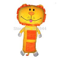 Wholesale Child Plush Car Pillow - new Child seat pets Children Car seat belts pillow cover Purple Tan lion plush toy