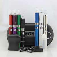 Wholesale Evod Batery - Double EVOD MT3 kit Electronic Cigarette starter kit EVOD E cig with 2 Evod Batery and MT3 Atomizer e-cig Cigarette Zipper Case