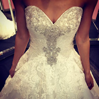 Wholesale Mermaid Sweethear - 2016 Mermaid Wedding Dresses Sweethear Neckline Lace Court Train Wedding Bridal Gowns Dhyz
