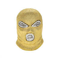 ingrosso stili di catena dell'oro 18k-Collana ciondolo CSGO hip-hop Collana stile cubo da uomo in stile punk in lega d'oro 18 carati con pendente a forma di testa in catena cubana di alta qualità