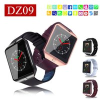 Wholesale Russian Kids - DZ09 smart watch dz09 smart watches for android phones SIM Intelligent mobile phone watch can record the sleep state Smart watch