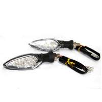 Wholesale Motorcycle Carbon Turn Signals - 2Pcs Motorcycle Motorbike Carbon LED Turn Signal Indicators Amber Light BS88 A3*