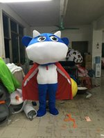 Wholesale Superman Mascot Costume - 2018 Hot sale Lovely Superman cattle cartoon doll Mascot Costume Free shipping