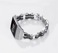 Wholesale replacement chains - NEWEST Bicycle chain style Metal Replacement Band for Fitbit Ionic for Fitbit Ionic Stainless Steel Strap Smart Watch Band wristband