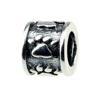 große wischtücher großhandel-Perlen Hunter Schmuck Authentic 925 Sterling Silber Wischen Sie Ihre Pfoten Charm Modeschmuck großes Loch Perle für 3mm europäischen Armband Schlangenkette