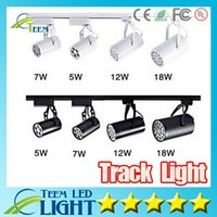 Wholesale Free Shipping Clothing Stores - X20 Whlosesale Lighting furniture for clothing store 3-18w high power led track light 110V 220V white for clothing shop light Free shipping