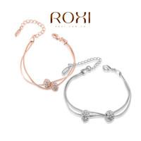 roxi armband großhandel-015 ROXI Australien Kristallkugel Armband Schmuck Perle Geschenk Für Frau seil kette Für Party