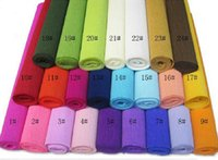 Wholesale Wedding Packing Decorations - 50cm x 2.5m Roll-up hem crepe paper prontpage flower wrapping paper cartoon flowers bouquet packing paper
