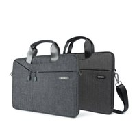 Wholesale Macbook Messenger - WIWU 11.6-12 Inch Laptop Sleeve Case Messenger Bag Padded Nylon Shockproof Waterproof Shoulder Bag Briefcase for MacBook 12-Inch with Retina