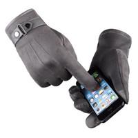 погодные перчатки оптовых-Высокое качество унисекс флис ветрозащитный зимние перчатки сенсорный экран перчатки для смартфона холодной погоды водонепроницаемый / ветрозащитный