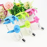Wholesale cage feeders - Plastic Pet Water Dispenser Round Disk Stability Design Dog Cage Hanging Dog Kettle Removable Non Slip Puppy Supplies 7dg B R