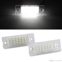 Wholesale Vw Caddy - 2 x White 18 LED 3528 SMD License Plate Lights Lamps Bulbs for VW Caddy 04