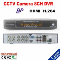 CCTV 8CH DVR Motion Detect P2P HDMI 2CH D1 + 6CH CIF PTZ Remote View Support iPhone Android 4CH Audio Muti-Lingua Select