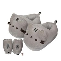 Wholesale Toy Cats For Sale - Hot sale 28cm Cat Plush Slipper Pusheen The Cat Animal Winter Warm Indoor Shoes for Adults