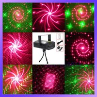 Atacado-Remote Control 100mW 650nm Som Ativo / Modo Auto LED Light Stage Red / Projector Stage Laser verde
