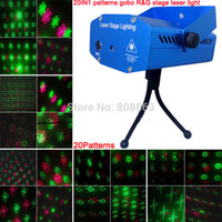 Dhl xl93 Großhandel 24pcs rot grün 20 Muster Laser-Projektor Weihnachten Party DJ Lighting Licht Disco bar Tanzbühne Lights zeigen