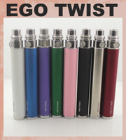 Wholesale Ecig Twist Variable Voltage Battery - 2014 Hottest eGo Twist ecig Variable Voltage ecig ego-c twist battery 650 900 1100 1300mah Variable Voltage 3.2-4.8V dc011