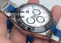 Wholesale Automatic Chronograph Movement - Men's luxury BP Factory Automatic Movement Chronograph Watch Ceramic Bezel White Dial ETA 7750 Valjoux Crystal Sport Wristwatches