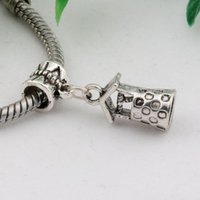 Chaud! 100pcs Antique Silver Alloy Wishing Well Charms Dangle Bead Fit Charm Bracelet 9X27.5MM Bijoux DIY