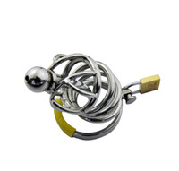 Wholesale bondage art device for sale - Group buy DHL Male Stainless Steel Bondage Cock Cage Chastity Art Device Cage Cock ring SM Fetish BDSM Sex JJ cage anal toy vibrator