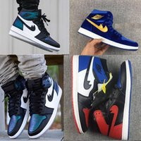 Wholesale Mandarin Ducks - 2017 Hot Sale Air Retro 1 All Basketball Stares Shoes Hi AS OG Men High Top Chameleon Fashion Mandarin duck