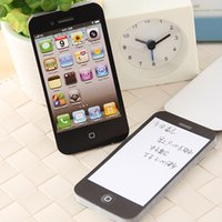 Wholesale Shape Sticky Note Pad - Fashion Unique Sticky Notes Black Iphone Shape Sticky Post-It Note Paper Cell Phone Memo Pad Gift Paper Stickers