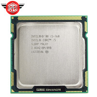 Wholesale original desktops - Original Intel Core i5 760 Processor 2.8 GHz 8MB Cache Socket LGA1156 45nm Desktop CPU