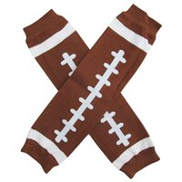 Wholesale Warm Christmas Socks - free ship 12Pair Baby Christmas Leg Warmer Baby brown football Leg Warmers infant socks Legging Tights Leg Warmers adult arm warmer