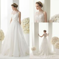 Wholesale white wedding dresses size 18 for sale - Group buy A Line White or Ivory Wedding Dress Bridal Gown Us Size